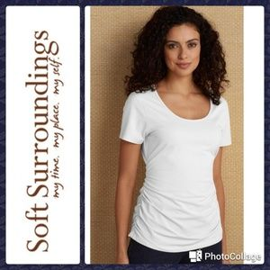 Soft Surroundings Ruched Tee sz. 8
